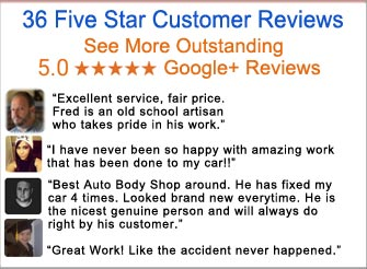 36 five-star google+ reviews makes best englishtown nj auto body repair restoration